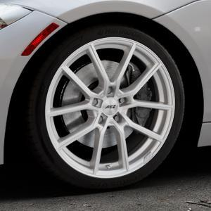 AEZ Raise High gloss Felge mit Reifen in 18Zoll Winterfelge Alufelge auf silbernem BMW Z4 Roadster Typ E89 (Z89, ZR) ⬇️ mit 15mm Tieferlegung ⬇️ Industriehalle 1 Thumbnail
