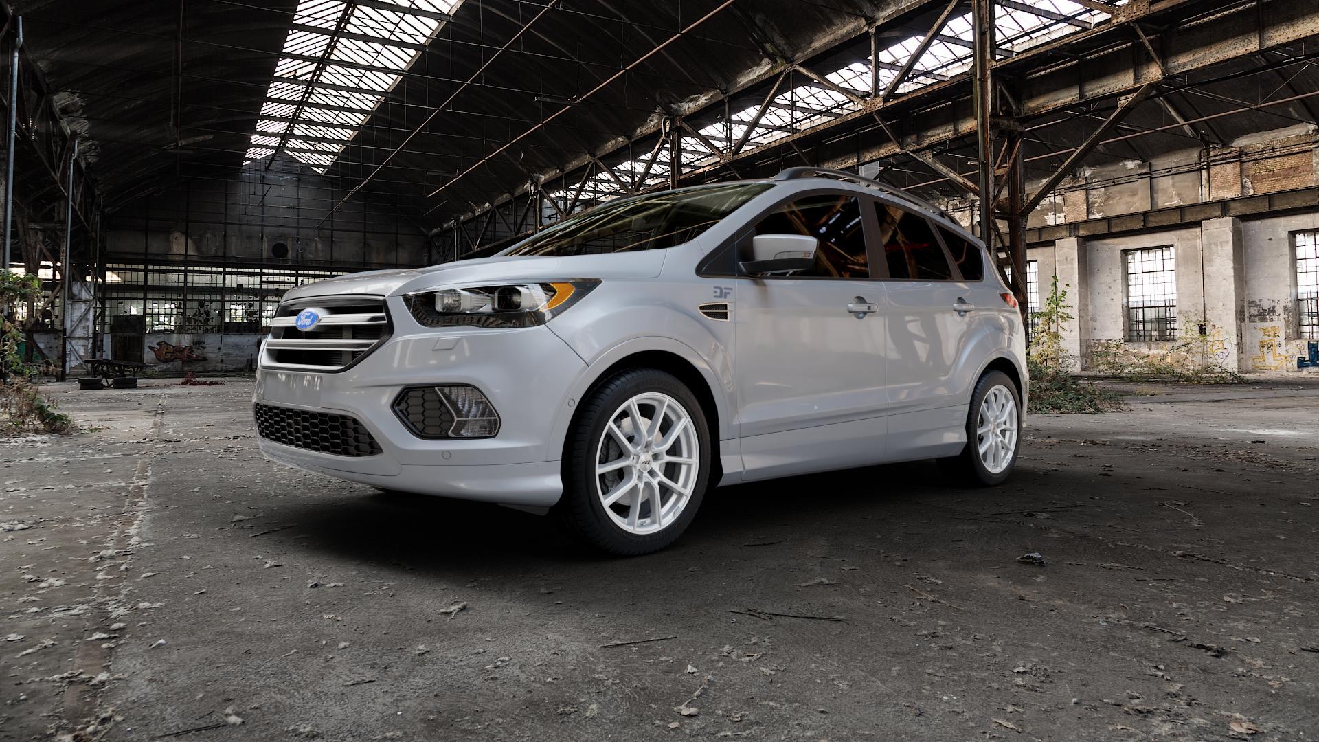 AEZ Raise High gloss Felge mit Reifen in 18Zoll Winterfelge Alufelge auf silbernem Ford Kuga II Facelift (15->) (17->) ⬇️ mit 15mm Tieferlegung ⬇️ Industriehalle 1 Camera_000