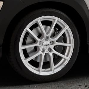 AEZ Raise High gloss Felge mit Reifen in 18Zoll Winterfelge Alufelge auf silbernem Hyundai Kona Typ OS ⬇️ mit 15mm Tieferlegung ⬇️ Industriehalle 1 Thumbnail