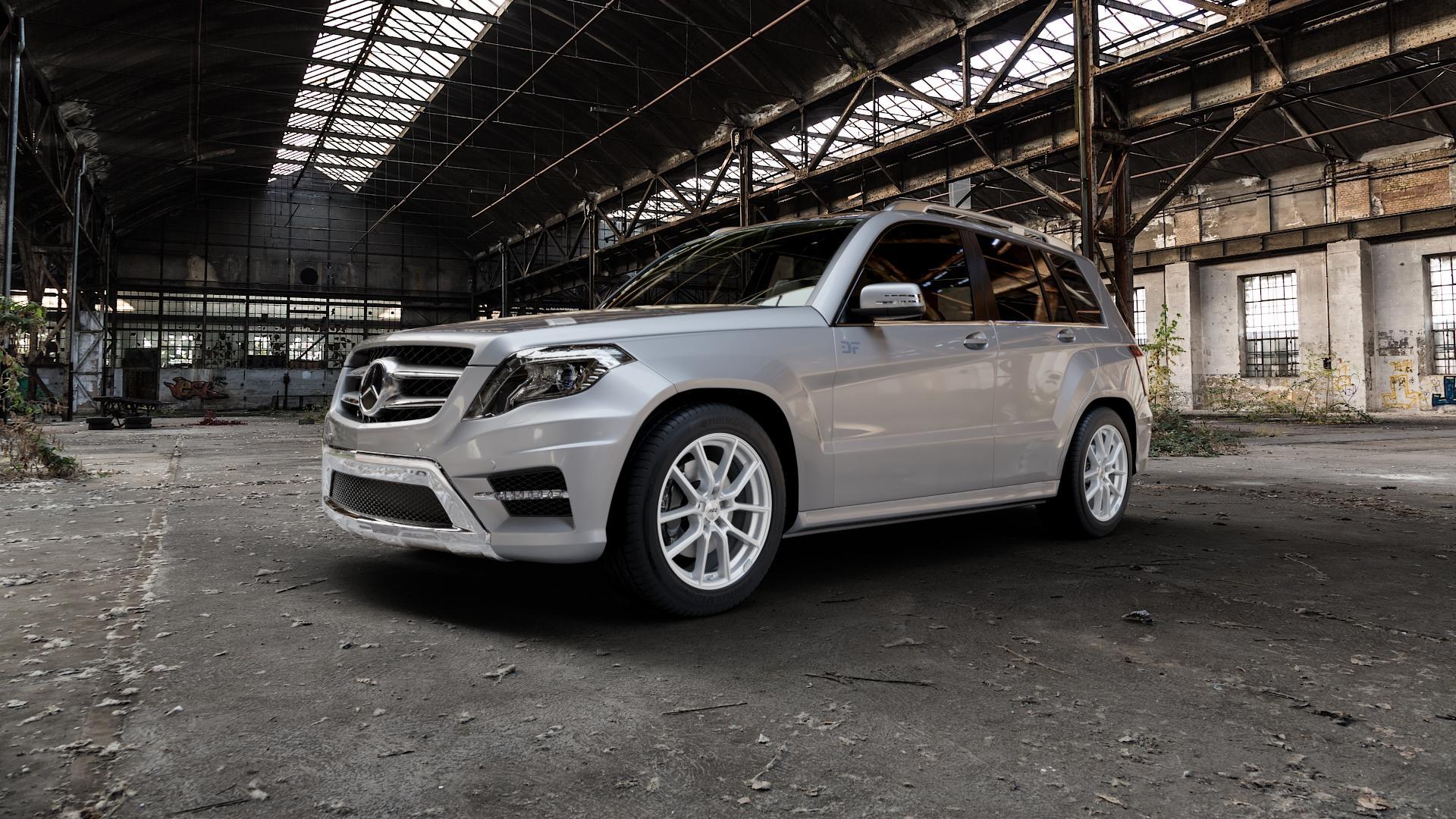 AEZ RAISE HIGH GLOSS Felge mit Reifen in 18Zoll Winterfelge Alufelge auf silbernem Mercedes GLK-Klasse Typ X204 Facelift ⬇️ mit 15mm Tieferlegung ⬇️ Industriehalle 1 Camera_000