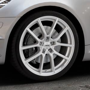 AEZ Raise High gloss Felge mit Reifen in 18Zoll Winterfelge Alufelge auf silbernem Mercedes SLK Typ R171 ⬇️ mit 15mm Tieferlegung ⬇️ Industriehalle 1 Thumbnail