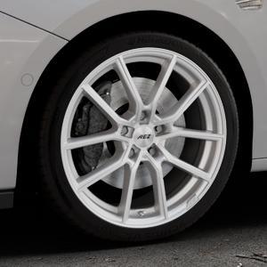 AEZ Raise High gloss Felge mit Reifen in 18Zoll Winterfelge Alufelge auf silbernem Opel Astra K Typ B-K ⬇️ mit 15mm Tieferlegung ⬇️ Industriehalle 1 Thumbnail
