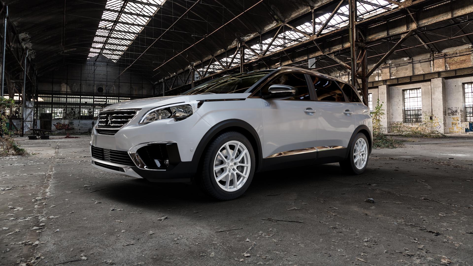 AEZ Raise High gloss Felge mit Reifen in 18Zoll Winterfelge Alufelge auf silbernem Peugeot 5008 Typ M ⬇️ mit 15mm Tieferlegung ⬇️ Industriehalle 1 Camera_000