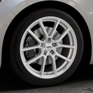 AEZ Raise High gloss Felge mit Reifen in 18Zoll Winterfelge Alufelge auf silbernem Renault Talisman Typ RFD ⬇️ mit 15mm Tieferlegung ⬇️ Industriehalle 1 Thumbnail