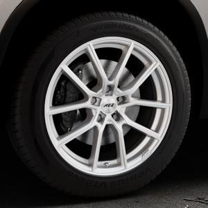 AEZ Raise High gloss Felge mit Reifen in 18Zoll Winterfelge Alufelge auf silbernem Skoda Kodiaq Typ NS ⬇️ mit 15mm Tieferlegung ⬇️ Industriehalle 1 Thumbnail