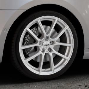 AEZ Raise High gloss Felge mit Reifen in 18Zoll Winterfelge Alufelge auf silbernem Skoda Octavia III Kombi Typ 5E Facelift ⬇️ mit 15mm Tieferlegung ⬇️ Industriehalle 1 Thumbnail
