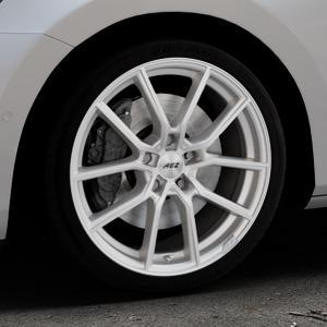 AEZ Raise High gloss Felge mit Reifen in 18Zoll Winterfelge Alufelge auf silbernem Skoda Superb III Kombi Typ 3V ⬇️ mit 15mm Tieferlegung ⬇️ Industriehalle 1 Thumbnail