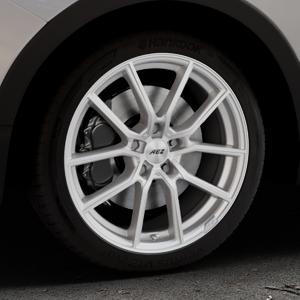 AEZ Raise High gloss Felge mit Reifen in 18Zoll Winterfelge Alufelge auf silbernem Ssangyong Tivoli Typ XK ⬇️ mit 15mm Tieferlegung ⬇️ Industriehalle 1 Thumbnail