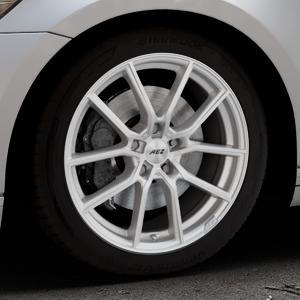 AEZ Raise High gloss Felge mit Reifen in 18Zoll Winterfelge Alufelge auf silbernem Volkswagen (VW) Passat 3C/B8 Limousine Variant ⬇️ mit 15mm Tieferlegung ⬇️ Industriehalle 1 Thumbnail