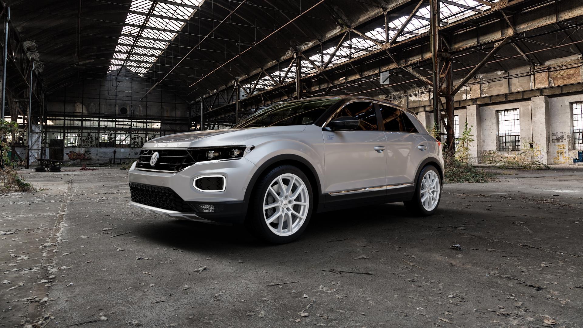 AEZ Raise High gloss Felge mit Reifen in 18Zoll Winterfelge Alufelge auf silbernem Volkswagen (VW) T-Roc ⬇️ mit 15mm Tieferlegung ⬇️ Industriehalle 1 Camera_000