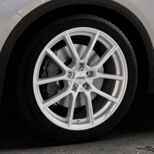 AEZ Raise High gloss Felge mit Reifen in 18Zoll Winterfelge Alufelge auf silbernem Volkswagen (VW) T-Roc ⬇️ mit 15mm Tieferlegung ⬇️ Industriehalle 1 Thumbnail