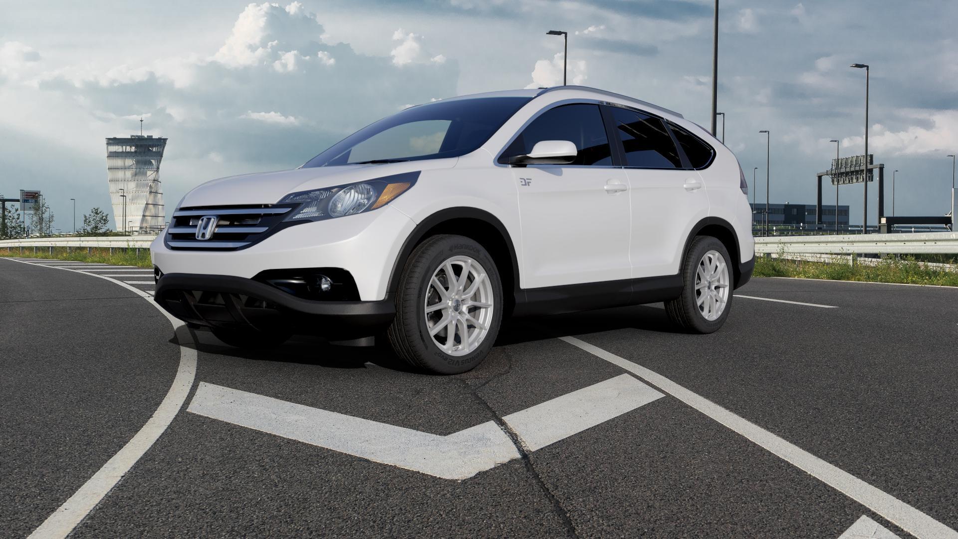 AEZ Raise High gloss Felge mit Reifen in 18Zoll Winterfelge Alufelge auf weissem Honda CR-V IV (RE5, RE6) ⬇️ mit 15mm Tieferlegung ⬇️ Autobahn_1 Camera_000