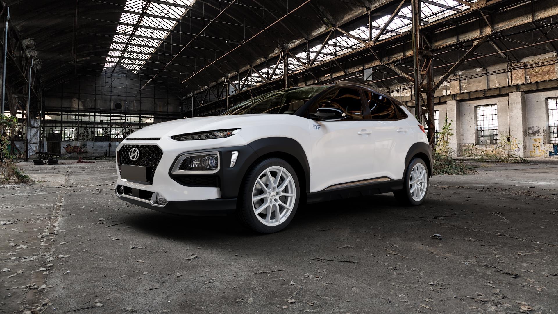 AEZ Raise High gloss Felge mit Reifen in 18Zoll Winterfelge Alufelge auf weissem Hyundai Kona Typ OS ⬇️ mit 15mm Tieferlegung ⬇️ Industriehalle 1 Camera_000