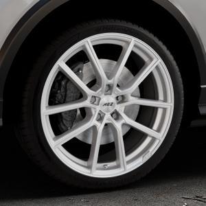 AEZ Raise High gloss Felge mit Reifen in 19Zoll Winterfelge Alufelge auf silbernem Audi Q2 Typ GA ⬇️ mit 15mm Tieferlegung ⬇️ Industriehalle 1 Thumbnail