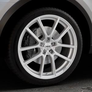 AEZ Raise High gloss Felge mit Reifen in 19Zoll Winterfelge Alufelge auf silbernem Audi Q3 I Typ 8U Facelift ⬇️ mit 15mm Tieferlegung ⬇️ Industriehalle 1 Thumbnail