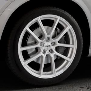 AEZ Raise High gloss Felge mit Reifen in 19Zoll Winterfelge Alufelge auf silbernem BMW X4 Typ F26 (X3, X-N1) ⬇️ mit 15mm Tieferlegung ⬇️ Industriehalle 1 Thumbnail