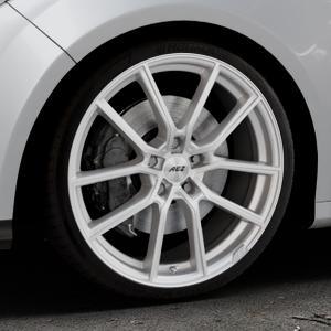 AEZ Raise High gloss Felge mit Reifen in 19Zoll Winterfelge Alufelge auf silbernem Ford Focus III Typ DYB (Schrägheck) (Stufenheck) Facelift ⬇️ mit 15mm Tieferlegung ⬇️ Industriehalle 1 Thumbnail