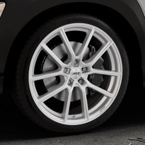 AEZ Raise High gloss Felge mit Reifen in 19Zoll Winterfelge Alufelge auf silbernem Hyundai Kona Typ OS ⬇️ mit 15mm Tieferlegung ⬇️ Industriehalle 1 Thumbnail