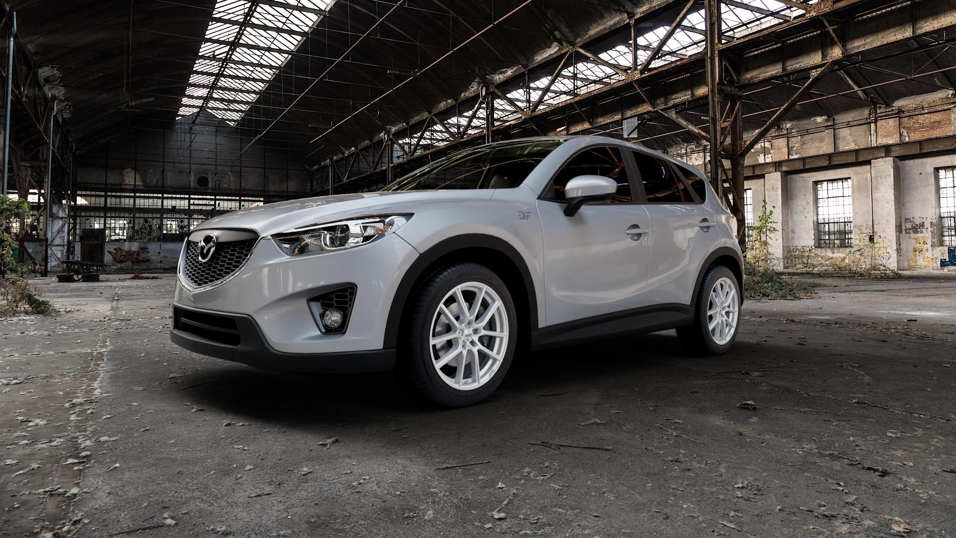 AEZ Raise High gloss Felge mit Reifen in 19Zoll Winterfelge Alufelge auf silbernem Mazda CX-5 Typ KE ⬇️ mit 15mm Tieferlegung ⬇️ Industriehalle 1 Camera_000