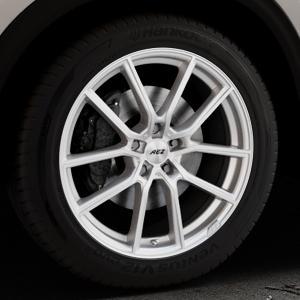 AEZ Raise High gloss Felge mit Reifen in 19Zoll Winterfelge Alufelge auf silbernem Mazda CX-5 Typ KF ⬇️ mit 15mm Tieferlegung ⬇️ Industriehalle 1 Thumbnail