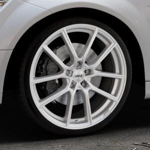 AEZ Raise High gloss Felge mit Reifen in 19Zoll Winterfelge Alufelge auf silbernem Mercedes C-Klasse Typ W204 Limousine ⬇️ mit 15mm Tieferlegung ⬇️ Industriehalle 1 Thumbnail