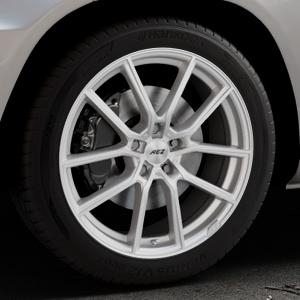 AEZ Raise High gloss Felge mit Reifen in 19Zoll Winterfelge Alufelge auf silbernem Mercedes GLK-Klasse Typ X204 Facelift ⬇️ mit 15mm Tieferlegung ⬇️ Industriehalle 1 Thumbnail