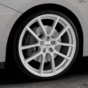 AEZ Raise High gloss Felge mit Reifen in 19Zoll Winterfelge Alufelge auf silbernem Opel Astra K Typ B-K ⬇️ mit 15mm Tieferlegung ⬇️ Industriehalle 1 Thumbnail