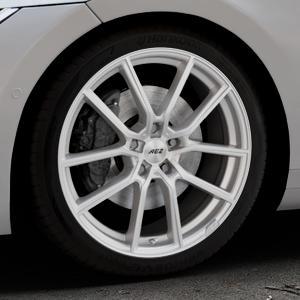 AEZ Raise High gloss Felge mit Reifen in 19Zoll Winterfelge Alufelge auf silbernem Volkswagen (VW) Arteon Typ 3H ⬇️ mit 15mm Tieferlegung ⬇️ Industriehalle 1 Thumbnail