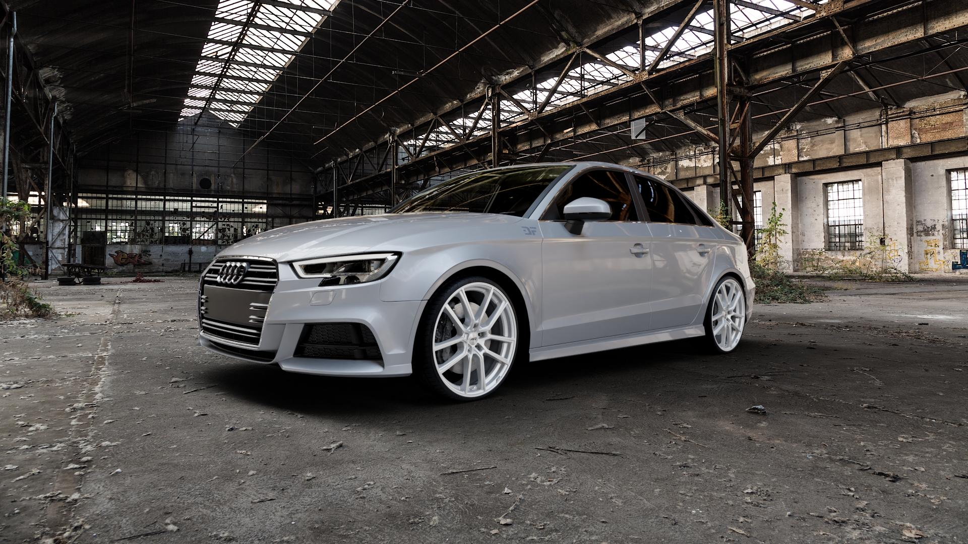 AEZ Raise High gloss Felge mit Reifen in 20Zoll Winterfelge Alufelge auf silbernem Audi A3 Typ 8V (Limousine) Facelift ⬇️ mit 15mm Tieferlegung ⬇️ Industriehalle 1 Camera_000