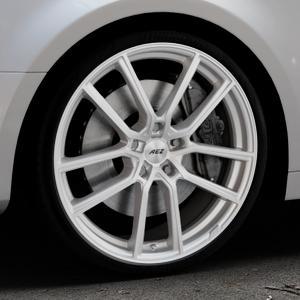 AEZ Raise High gloss Felge mit Reifen in 20Zoll Winterfelge Alufelge auf silbernem Audi A4 Typ B9 (Limousine) ⬇️ mit 15mm Tieferlegung ⬇️ Industriehalle 1 Thumbnail