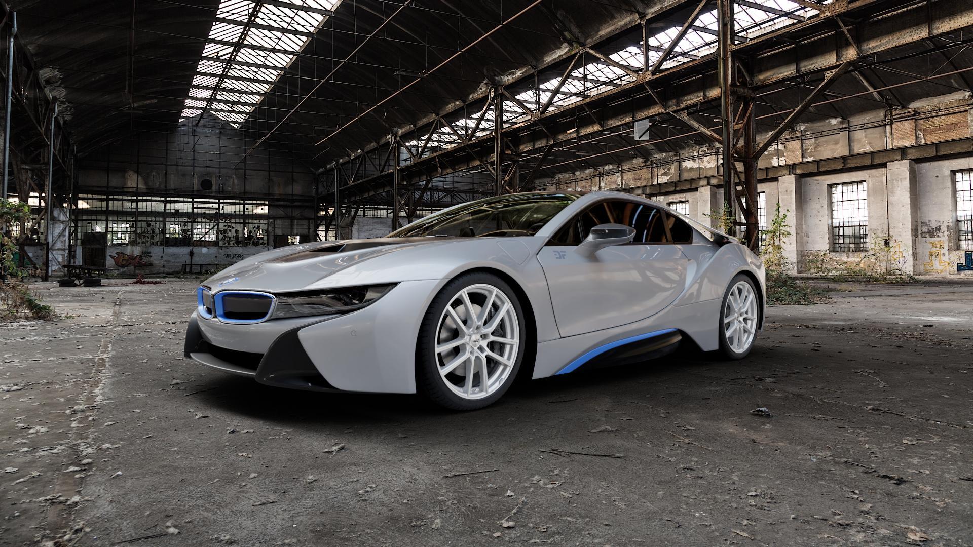 AEZ Raise High gloss Felge mit Reifen in 20Zoll Winterfelge Alufelge auf silbernem BMW i8 Coupe (BMWi-2) ⬇️ mit 15mm Tieferlegung ⬇️ Industriehalle 1 Camera_000