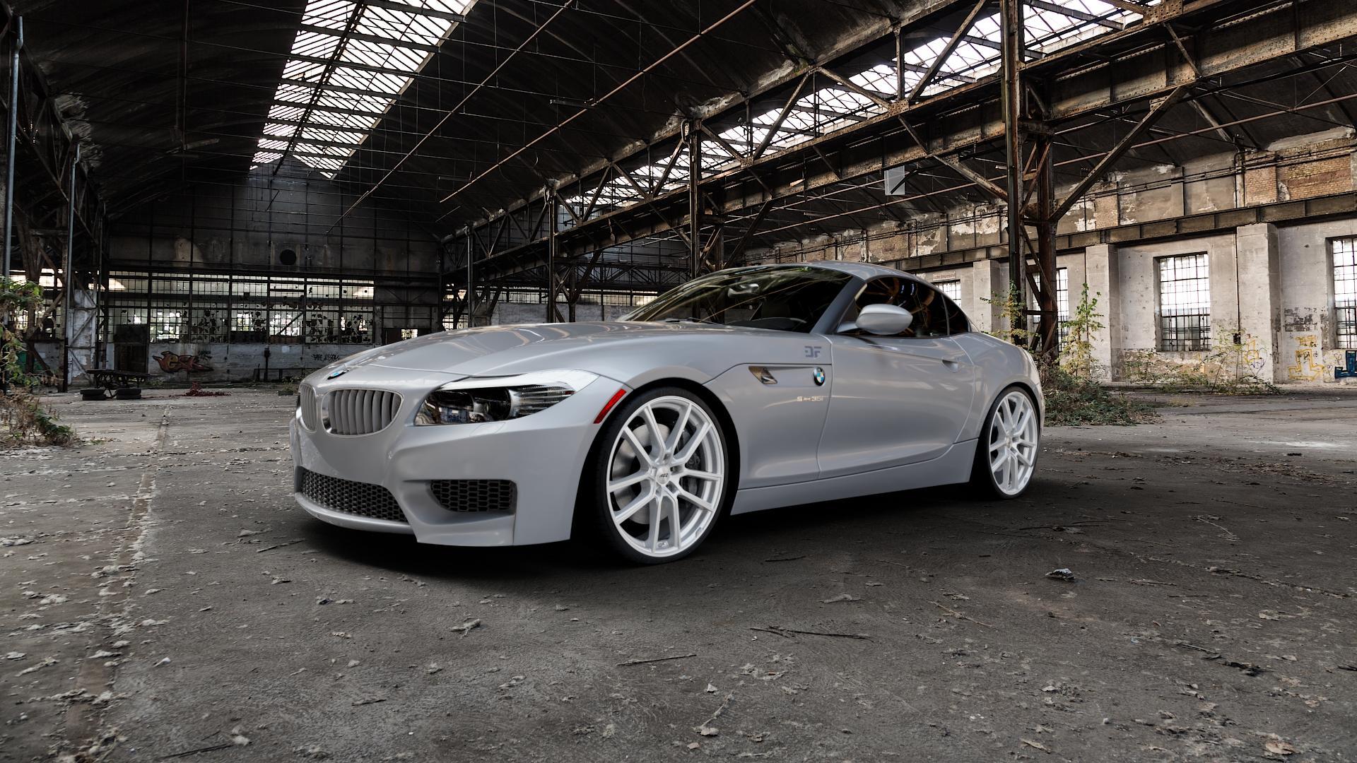 AEZ Raise High gloss Felge mit Reifen in 20Zoll Winterfelge Alufelge auf silbernem BMW Z4 Roadster Typ E89 (Z89, ZR) ⬇️ mit 15mm Tieferlegung ⬇️ Industriehalle 1 Camera_000