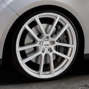 AEZ Raise High gloss Felge mit Reifen in 20Zoll Winterfelge Alufelge auf silbernem Ford Focus III Typ DYB (Turnier) ⬇️ mit 15mm Tieferlegung ⬇️ Industriehalle 1 Thumbnail