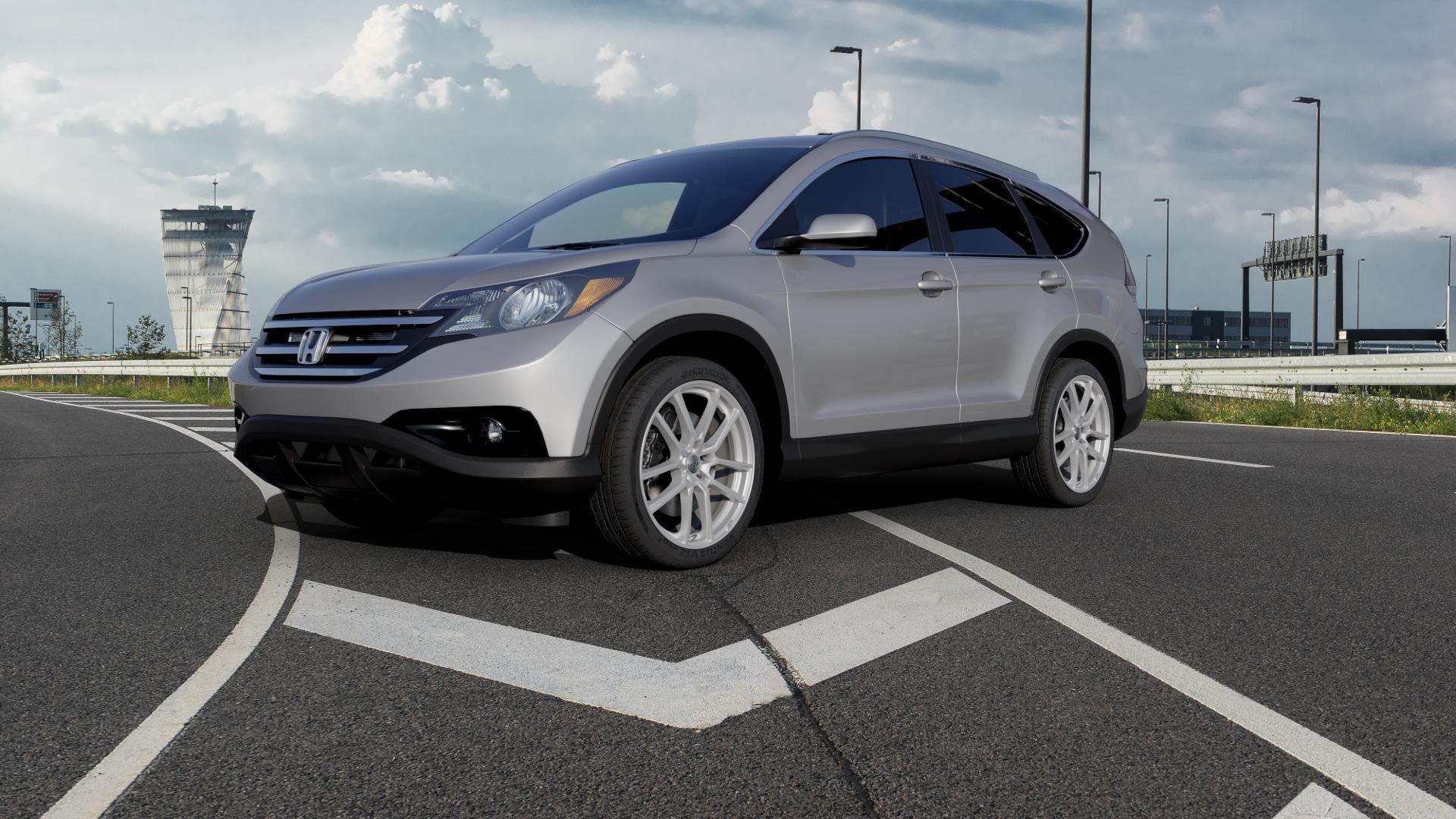 AEZ Raise High gloss Felge mit Reifen in 20Zoll Winterfelge Alufelge auf silbernem Honda CR-V IV (RE5, RE6) ⬇️ mit 15mm Tieferlegung ⬇️ Autobahn_1 Camera_000