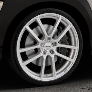 AEZ Raise High gloss Felge mit Reifen in 20Zoll Winterfelge Alufelge auf silbernem Hyundai Kona Typ OS ⬇️ mit 15mm Tieferlegung ⬇️ Industriehalle 1 Thumbnail