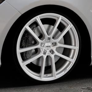AEZ Raise High gloss Felge mit Reifen in 20Zoll Winterfelge Alufelge auf silbernem Mercedes CLA-Klasse I Shooting Brake Typ 245G ⬇️ mit 15mm Tieferlegung ⬇️ Industriehalle 1 Thumbnail