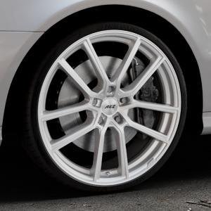 AEZ Raise High gloss Felge mit Reifen in 20Zoll Winterfelge Alufelge auf silbernem Mercedes E-Klasse Typ W211 Limousine ⬇️ mit 15mm Tieferlegung ⬇️ Industriehalle 1 Thumbnail