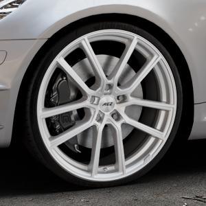 AEZ Raise High gloss Felge mit Reifen in 20Zoll Winterfelge Alufelge auf silbernem Mercedes SLK Typ R171 ⬇️ mit 15mm Tieferlegung ⬇️ Industriehalle 1 Thumbnail