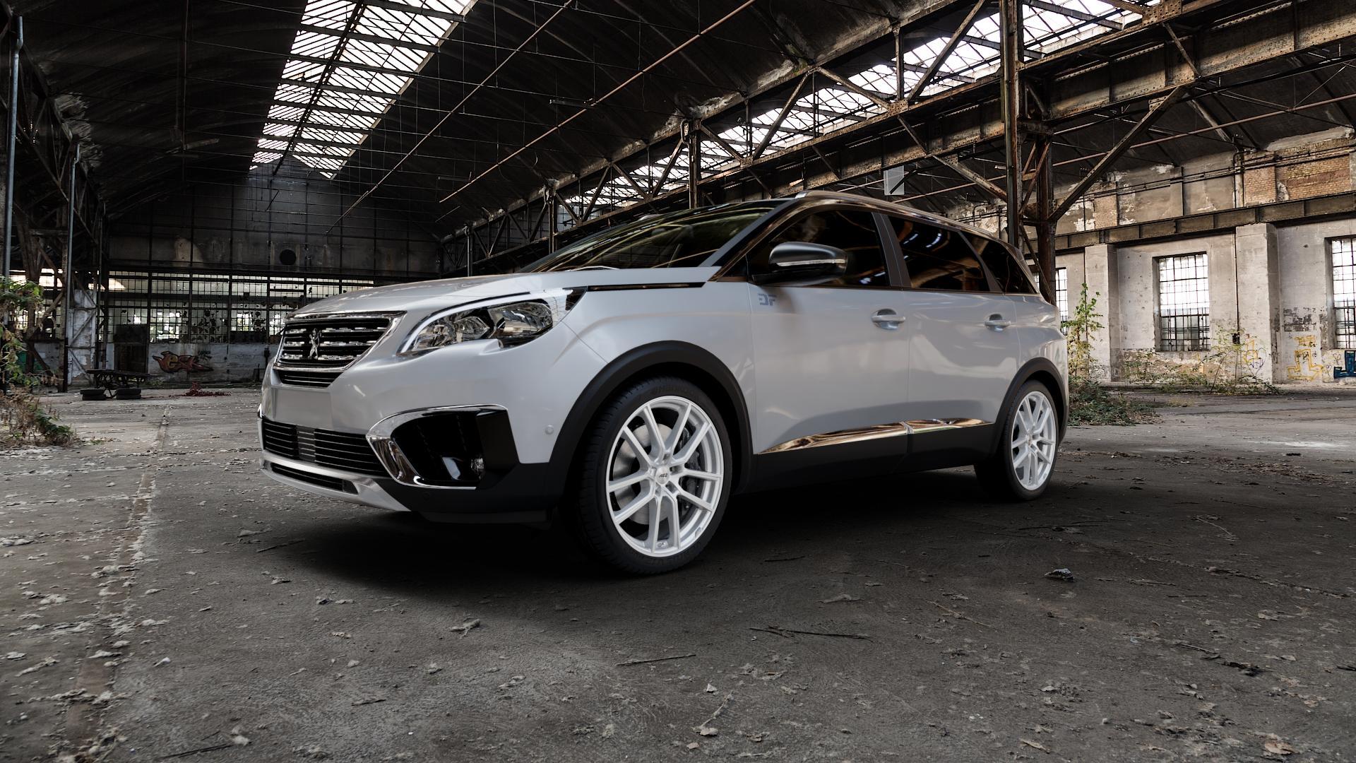AEZ Raise High gloss Felge mit Reifen in 20Zoll Winterfelge Alufelge auf silbernem Peugeot 5008 Typ M ⬇️ mit 15mm Tieferlegung ⬇️ Industriehalle 1 Camera_000