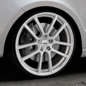 AEZ Raise High gloss Felge mit Reifen in 20Zoll Winterfelge Alufelge auf silbernem Skoda Superb II Typ 3T Kombi ⬇️ mit 15mm Tieferlegung ⬇️ Industriehalle 1 Thumbnail