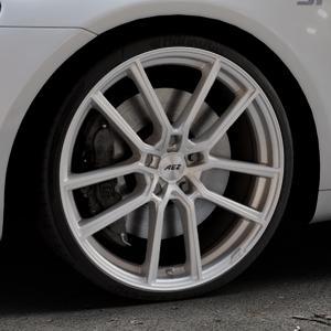 AEZ Raise High gloss Felge mit Reifen in 20Zoll Winterfelge Alufelge auf silbernem Volkswagen (VW) Scirocco III Typ 13 ⬇️ mit 15mm Tieferlegung ⬇️ Industriehalle 1 Thumbnail