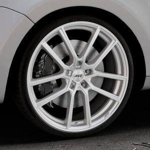 AEZ Raise High gloss Felge mit Reifen in 20Zoll Winterfelge Alufelge auf silbernem Volkswagen (VW) Sharan II Typ 7N ⬇️ mit 15mm Tieferlegung ⬇️ Industriehalle 1 Thumbnail