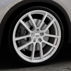 AEZ Raise High gloss Felge mit Reifen in 20Zoll Winterfelge Alufelge auf silbernem Volkswagen (VW) T-Roc ⬇️ mit 15mm Tieferlegung ⬇️ Industriehalle 1 Thumbnail