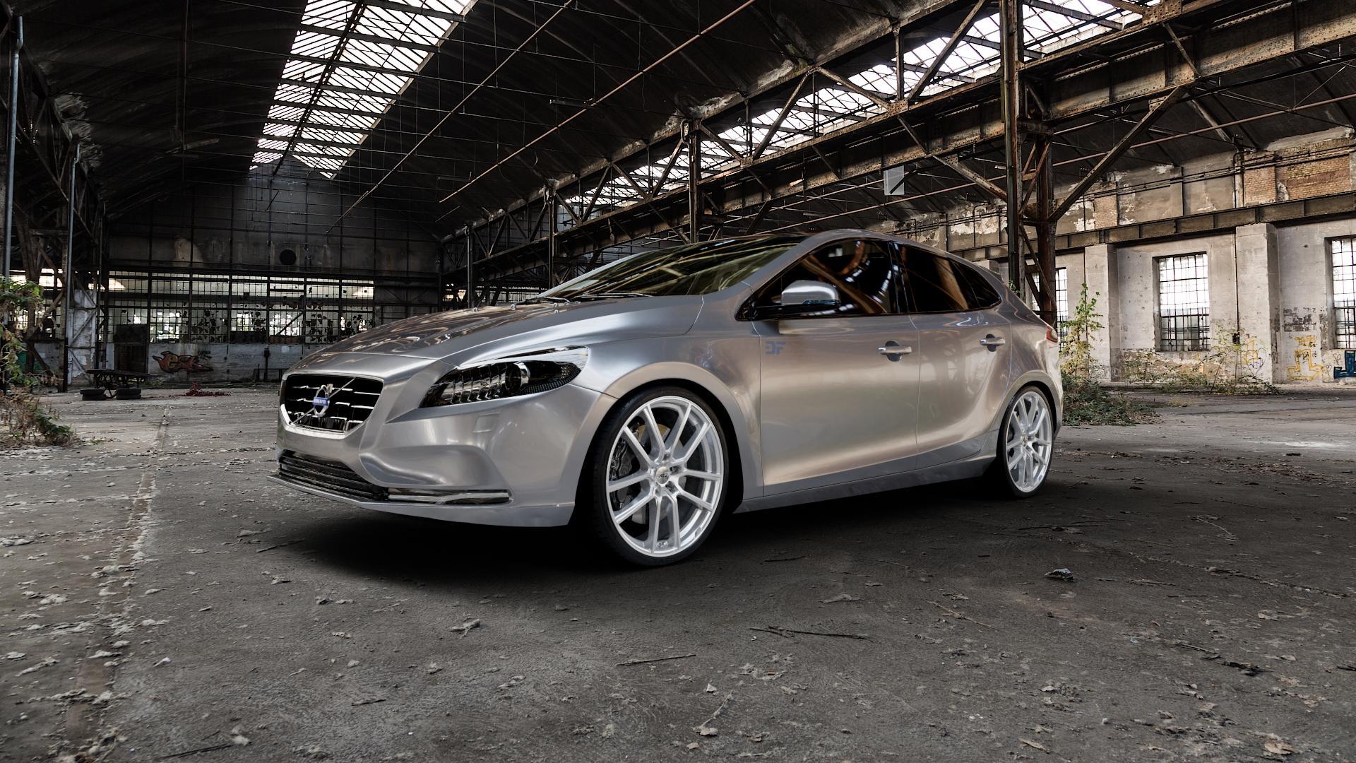AEZ RAISE HIGH GLOSS Felge mit Reifen in 20Zoll Winterfelge Alufelge auf silbernem Volvo V40 II Typ M ⬇️ mit 15mm Tieferlegung ⬇️ Industriehalle 1 Camera_000