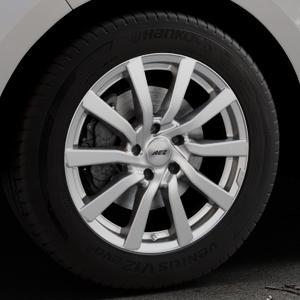 AEZ Reef Silver Felge mit Reifen silber in 18Zoll Winterfelge Alufelge auf silbernem Ford Edge Typ SBF ⬇️ mit 15mm Tieferlegung ⬇️ Industriehalle 1 Thumbnail