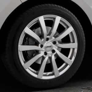 AEZ Reef Silver Felge mit Reifen silber in 19Zoll Winterfelge Alufelge auf silbernem Ford Edge Typ SBF ⬇️ mit 15mm Tieferlegung ⬇️ Industriehalle 1 Thumbnail