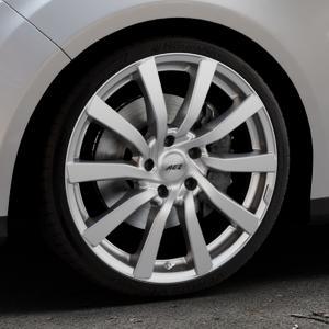 AEZ Reef Silver Felge mit Reifen silber in 19Zoll Winterfelge Alufelge auf silbernem Ford Focus III Typ DYB (Turnier) ⬇️ mit 15mm Tieferlegung ⬇️ Industriehalle 1 Thumbnail