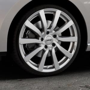 AEZ Reef Silver Felge mit Reifen silber in 19Zoll Winterfelge Alufelge auf silbernem Seat Leon Typ 5F ST Facelift ⬇️ mit 15mm Tieferlegung ⬇️ Industriehalle 1 Thumbnail
