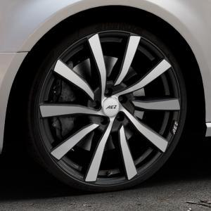 AEZ Reef SUV Black matt/polished Felge mit Reifen silber schwarz in 20Zoll Alufelge auf silbernem Audi A3 Typ 8V (Sportback) ⬇️ mit 15mm Tieferlegung ⬇️ Industriehalle 1 Thumbnail
