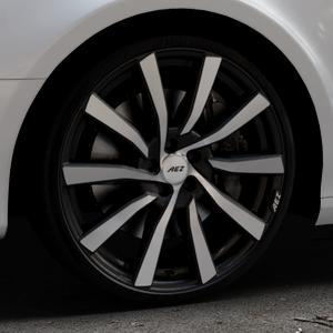 AEZ Reef SUV Black matt/polished Felge mit Reifen silber schwarz in 20Zoll Alufelge auf silbernem Audi A4 Typ 8K5/B8 (Avant) ⬇️ mit 15mm Tieferlegung ⬇️ Industriehalle 1 Thumbnail